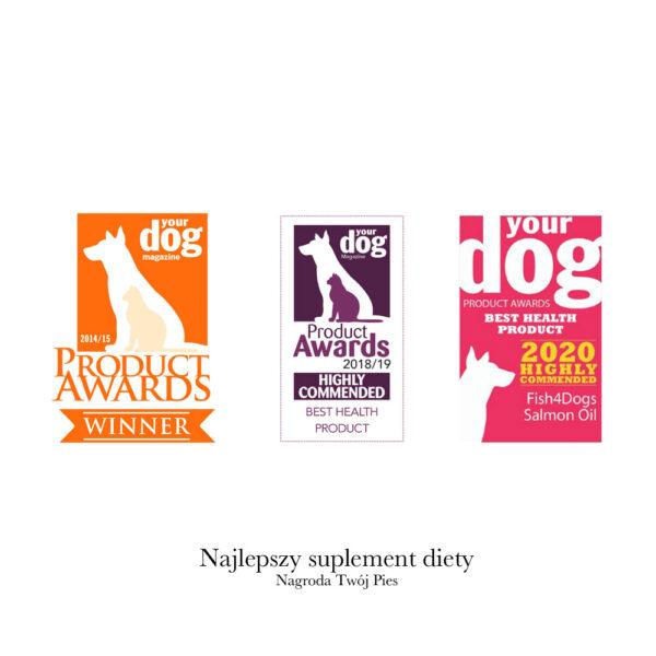 Nagroda dla najlepszego suplementu diety - Fish4Dogs Olej z łososia