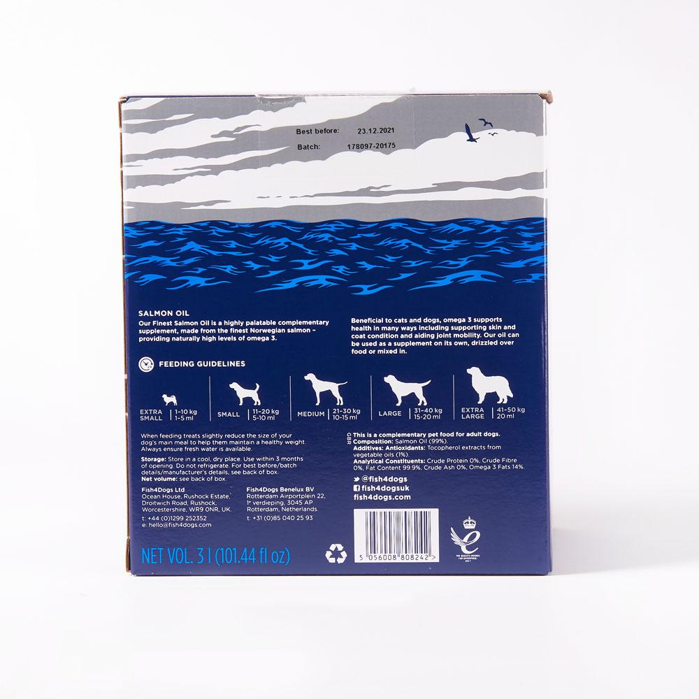 Suplement diety dla psów Fish4Dogs Olej z łososia