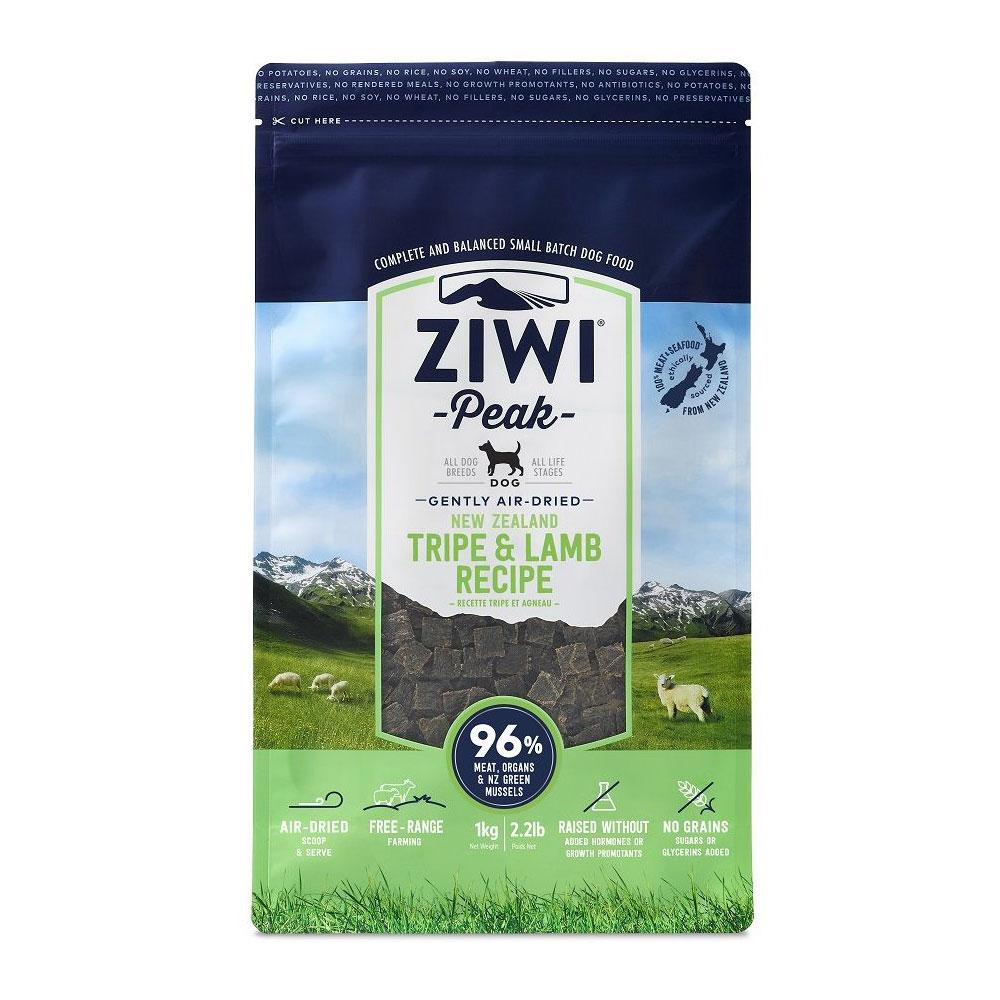 Karma dla psa Ziwi Peak Trip&Lamb - Żwacze i Jagnięcina 1 kg front to 96% świeżego mięsa