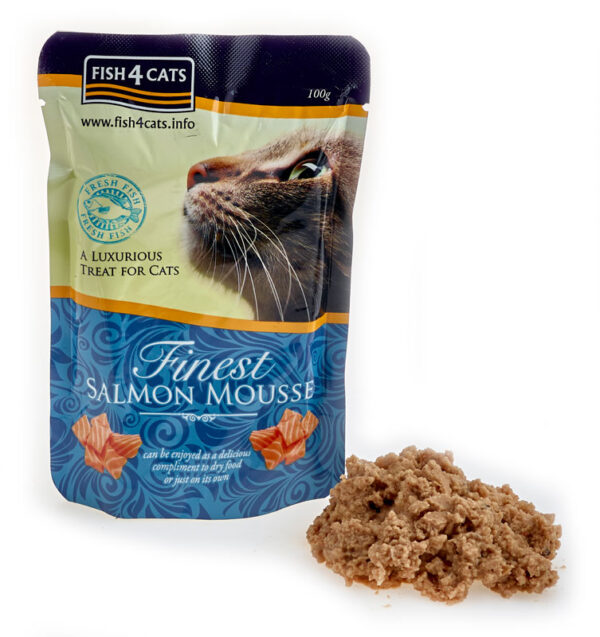 Karma mokra dla kota Fish4Cats Mus z Łososia