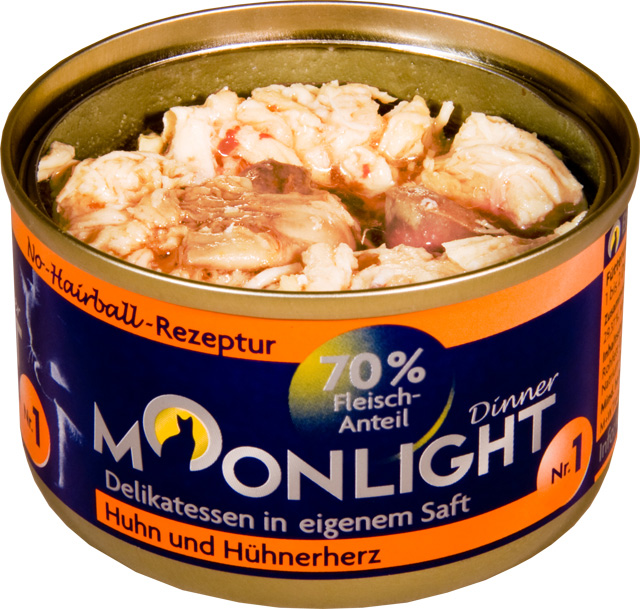 Karma mokra Moonlight Dinner 1 - Kurczak i Serca Kurczaka