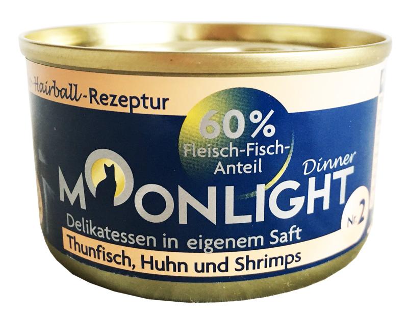 Karma mokra dla kota Moonlight Dinner 2 - Tuńczyk, kurczak i krewetki