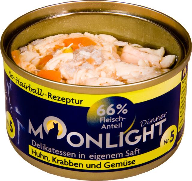 Karma mokra dla kota Moonlight Dinner 5 - Kurczak, kałamarnica, marchew i dynia