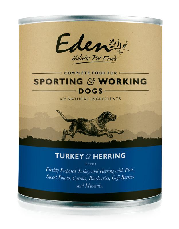 Karma mokra dla psa Eden Indyk i Śledź z Warzywami