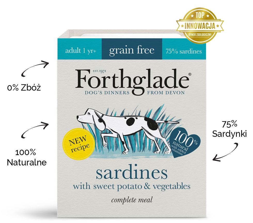 Karma mokra dla psa Forthglade Sardynki z batatami i warzywami