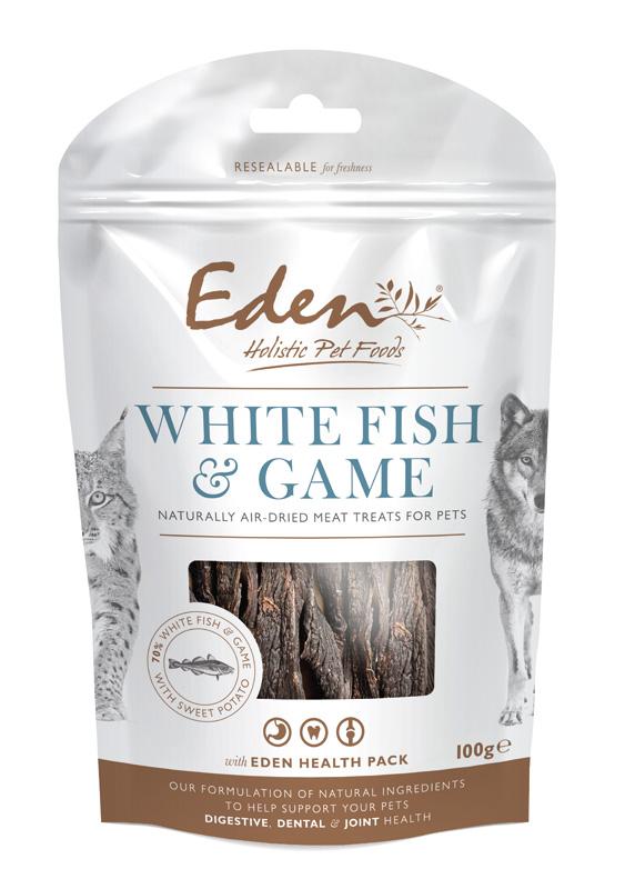 Przysmaki dla psa Eden Biała Ryba i Dziczyzna na zęby, stawy i żołądek