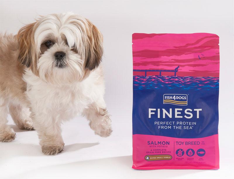 Karma dla psa Fish4Dogs Toy Breed z Łososia dla ras miniaturowych