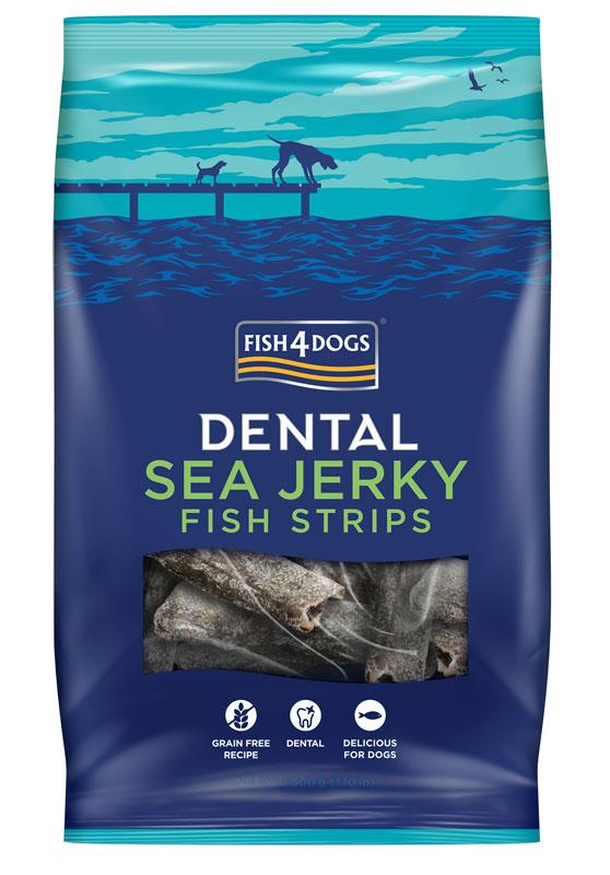 Przysmaki dentystyczne dla psa Fish4Dogs Sea Jerky Fish Strips