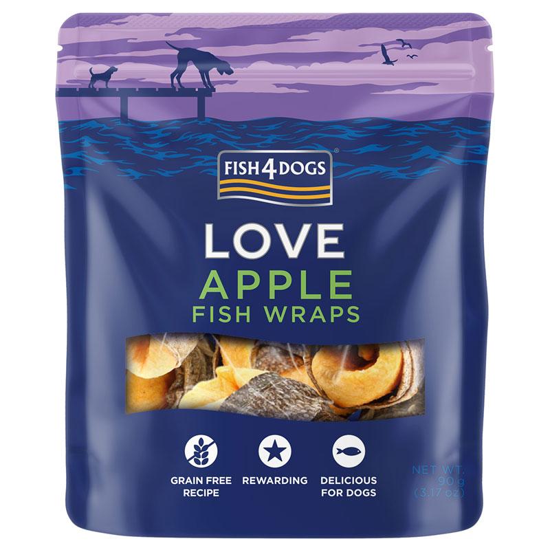 Przysmaki dla psa Fish4Dogs Apple Fish Wraps