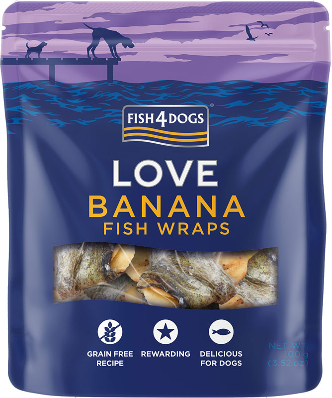 Przysmaki dla psa Fish4Dogs Banana Fish Wraps