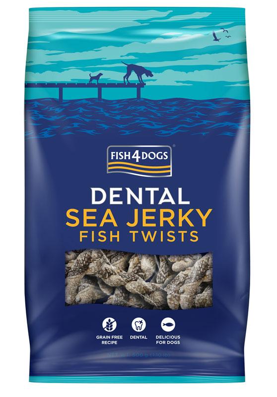 Przysmaki dentystyczne dla psa Fish4Dogs Sea Jerky Fish Twists