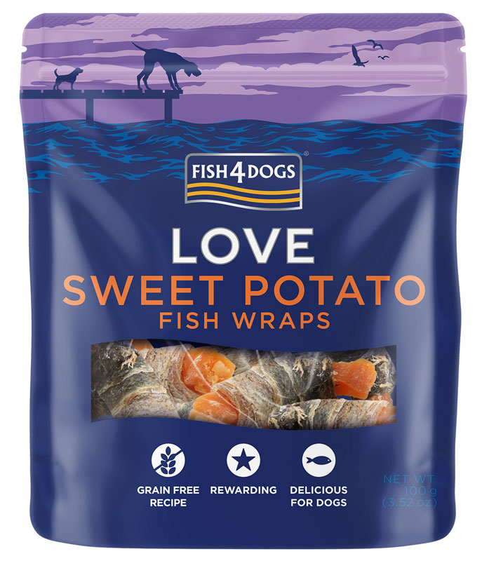 Przysmaki dla psa Fish4Dogs Fish4Dogs Sweet Potato Fish Wraps