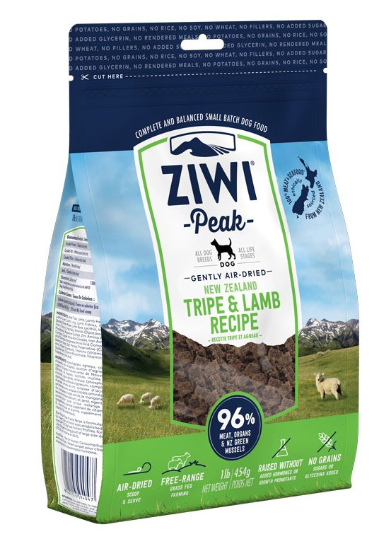 Karma dla psa Ziwi Peak Trip and Lamb - Żwacze i Jagnięcina