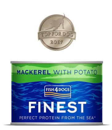 Karma mokra Fish4Dogs Makrela z ziemniakami Nagroda