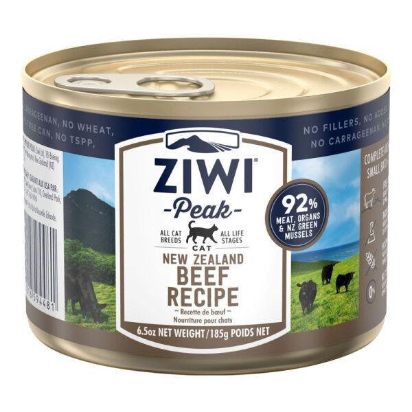 karma dla kota Ziwi Peak Beef - Wołowina puszka 185g front