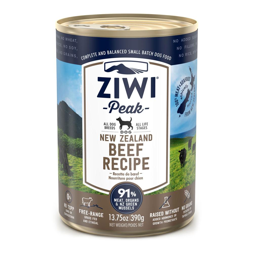 Karma mokra dla psa Ziwi Peak Dog Beef - Wołowina puszka 390g front