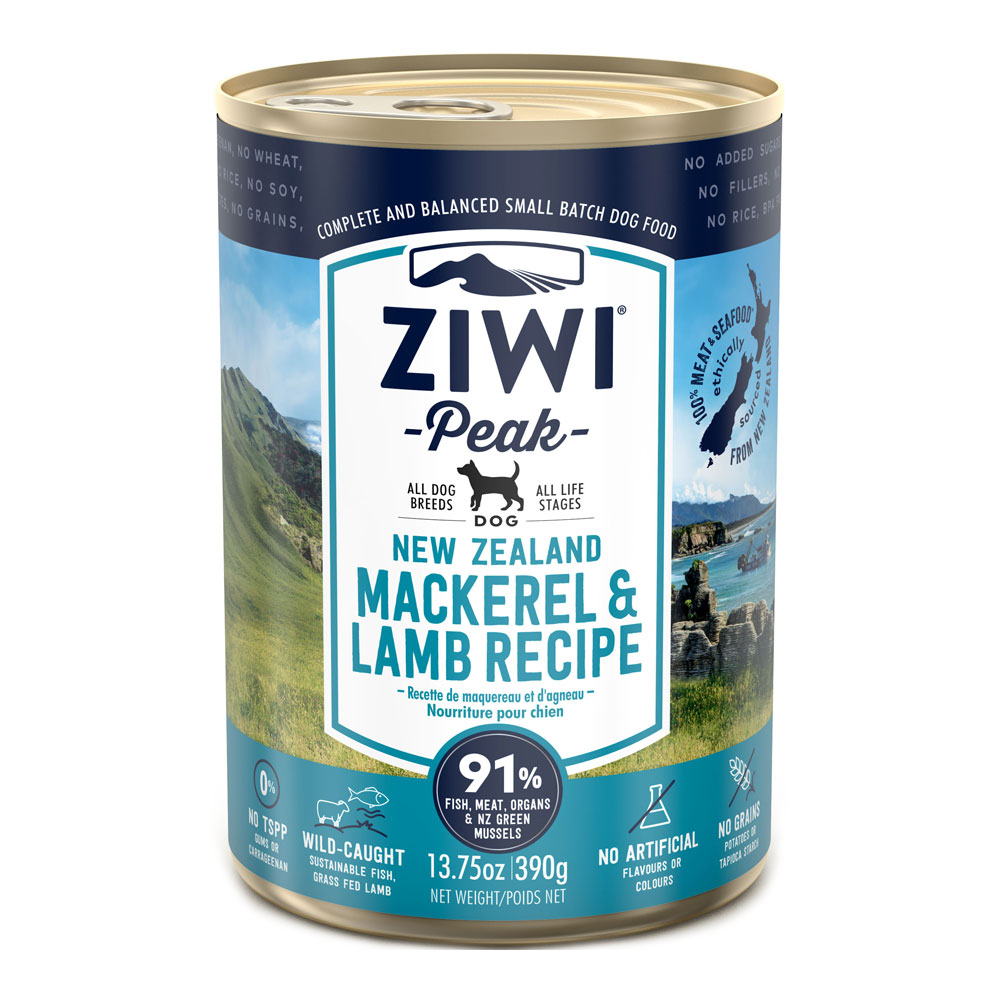 Ziwi Peak Dog Mackerel & Lamb - Makrela i Jagnięcina puszka 390g front