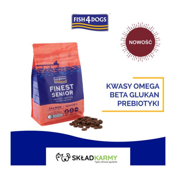 Nowość - Karma dla psa Fish4Dogs Finest Senior Salmon z Łososiem