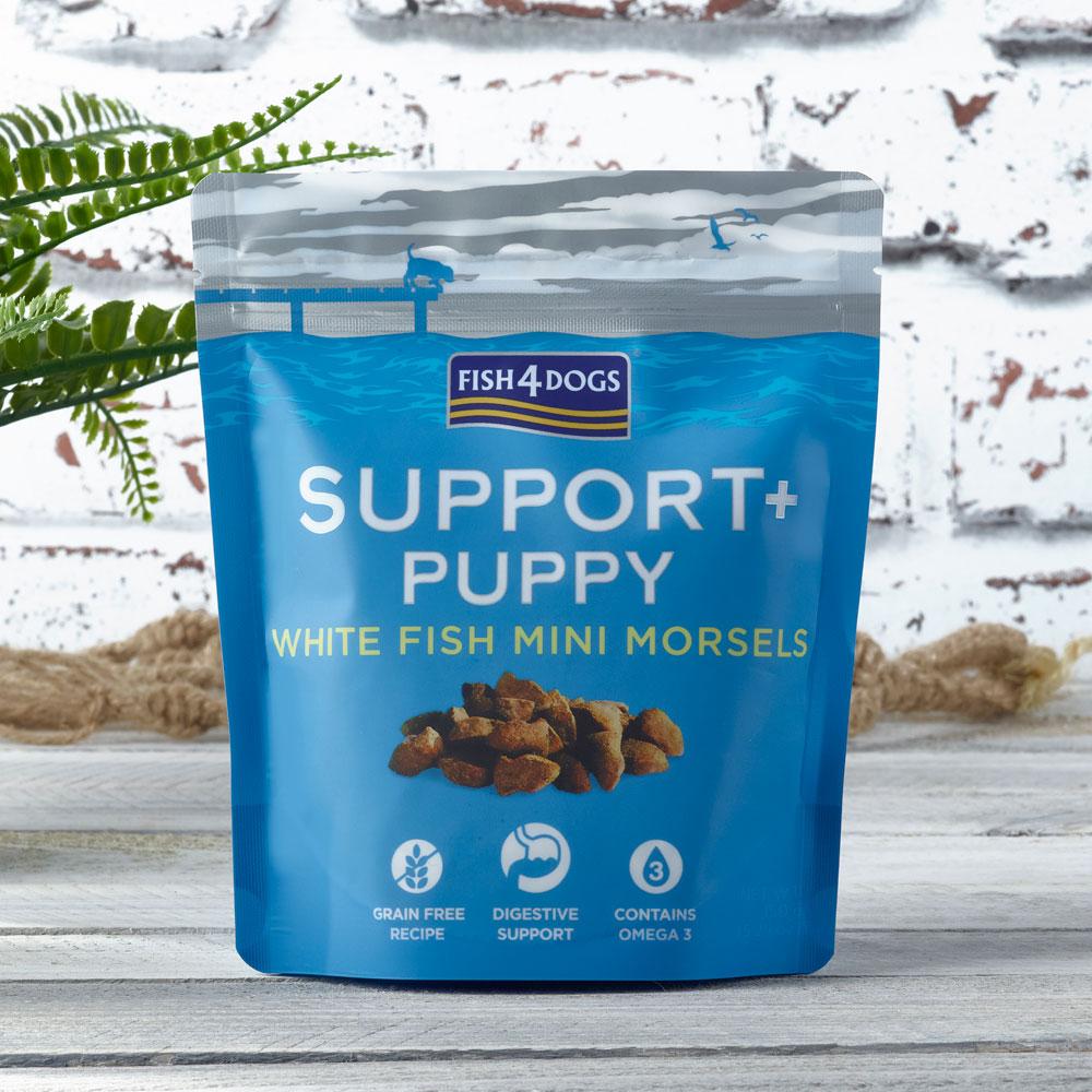 Przysmaki dla szczeniaka na trawienie Fish4Dogs Puppy White Fish Morsels
